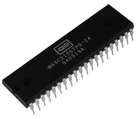 This is a Picture of the W65C21S6TPG-14 Peripheral Interface Adapter (PIA) Plastic 