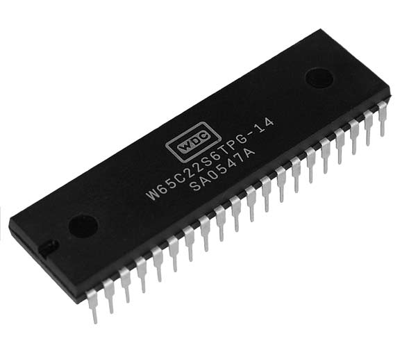 This is a Picture of the W65C22S6TPG-14 Versatile Interface Adapter (VIA) Plastic 